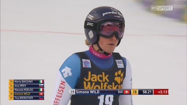 Maribor (SLO), géant dames, 1re manche: Simone Wild (SUI) prend la 24e place avec 3.13 de retard [RTS]