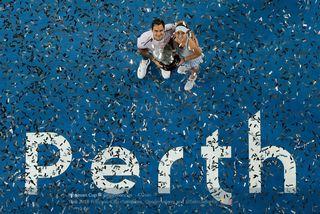 Bencic et Federer disputaient leur 1er double décisif ensemble. [Hopman Cup - twitter - RTS]