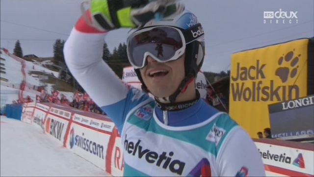 Adelboden (SUI), slalom masculin, 2e manche: Loic Meillard (SUI) [RTS]