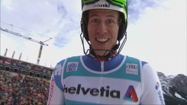 Adelboden (SUI), slalom masculin, 2e manche: Ramon Zenhaeusern (SUI) [RTS]
