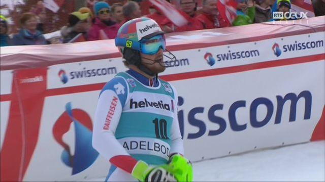 Adelboden (SUI), slalom masculin, 2e manche: Luca Aerni (SUI) [RTS]