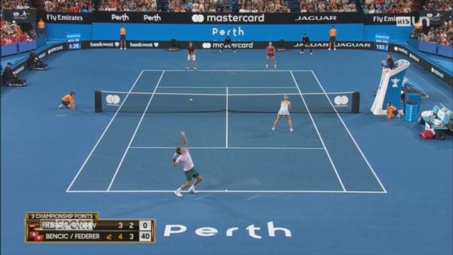 Tennis: le duo Bencic-Federer gagne la Hopman Cup [RTS]