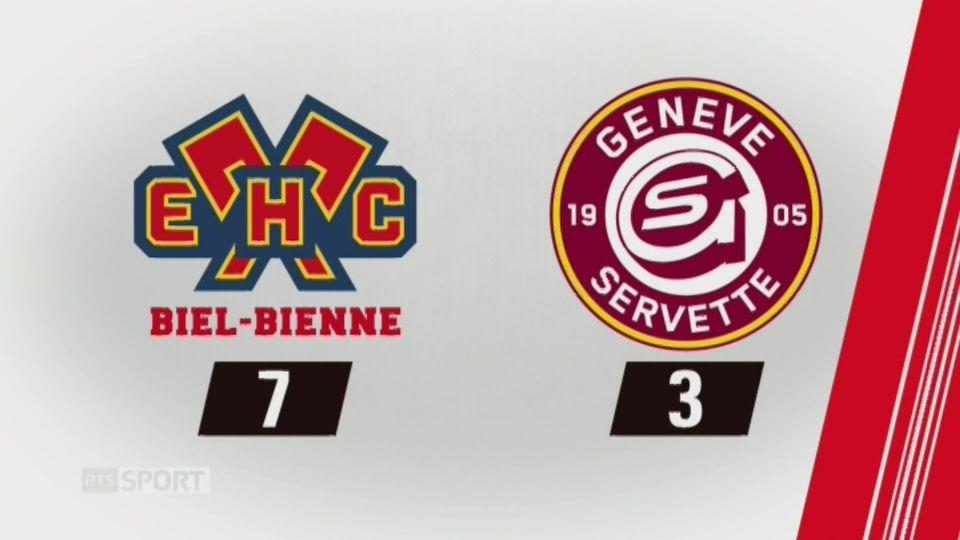 37e journée, Bienne - GE Servette (7-3): tous les buts de la rencontre [RTS]