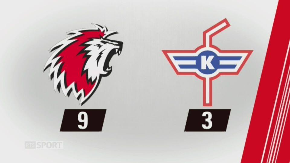 37e journée, Lausanne - Kloten (9-3): tous les buts de la rencontre [RTS]