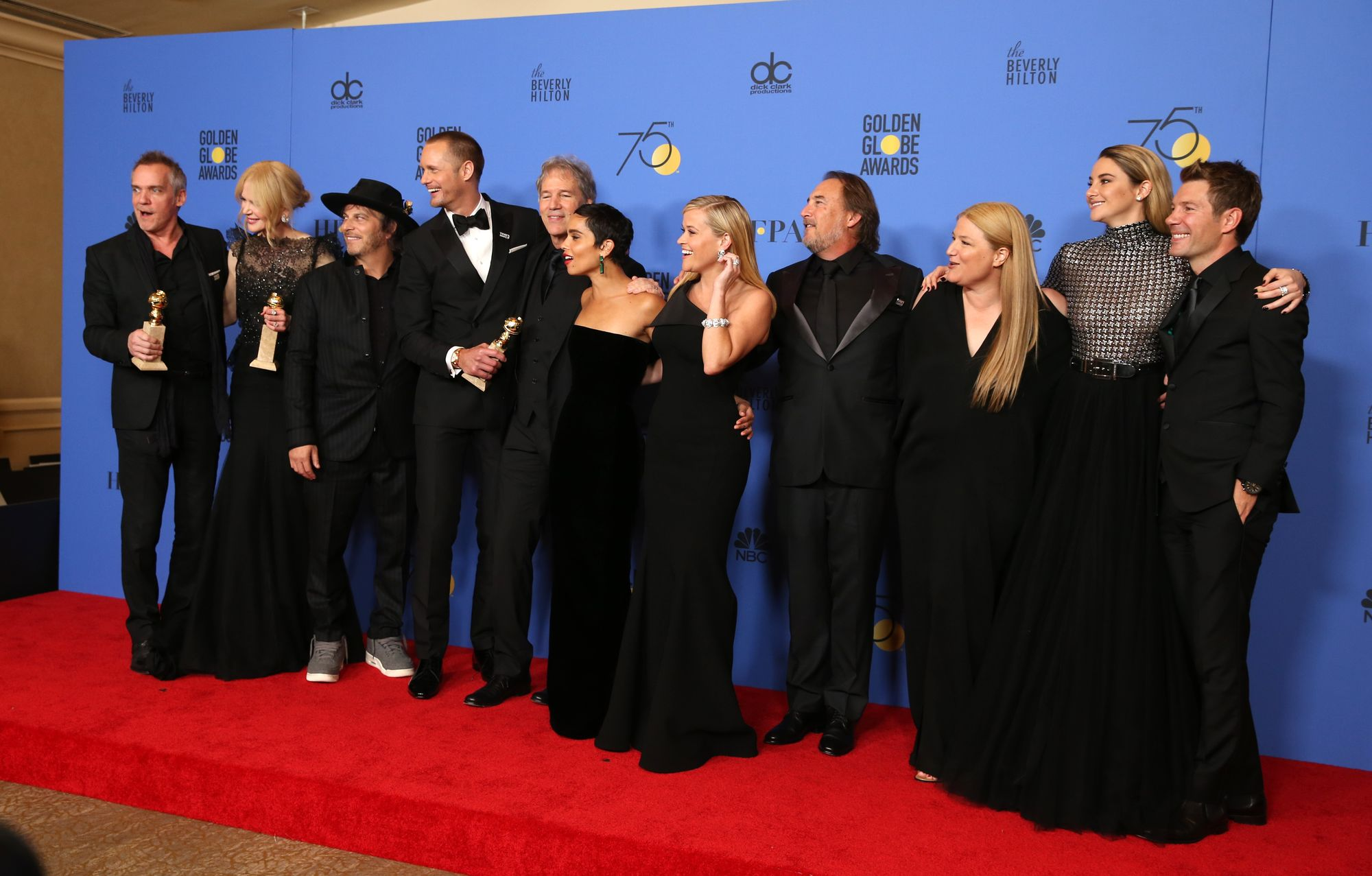"L'équipe de la série ""Big Little Lies"" aux Golden Globes."