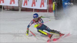 Flachau (AUT), Slalom dames, 1re manche: Mikaela Shiffrin (USA) [RTS]