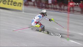 Flachau (AUT), Slalom dames, 2e manche: Aline Danioth (SUI) [RTS]