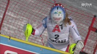 Flachau (AUT), Slalom dames, 2e manche: Mélanie Meillard (SUI) éliminée après 3 portes en seconde manche [RTS]