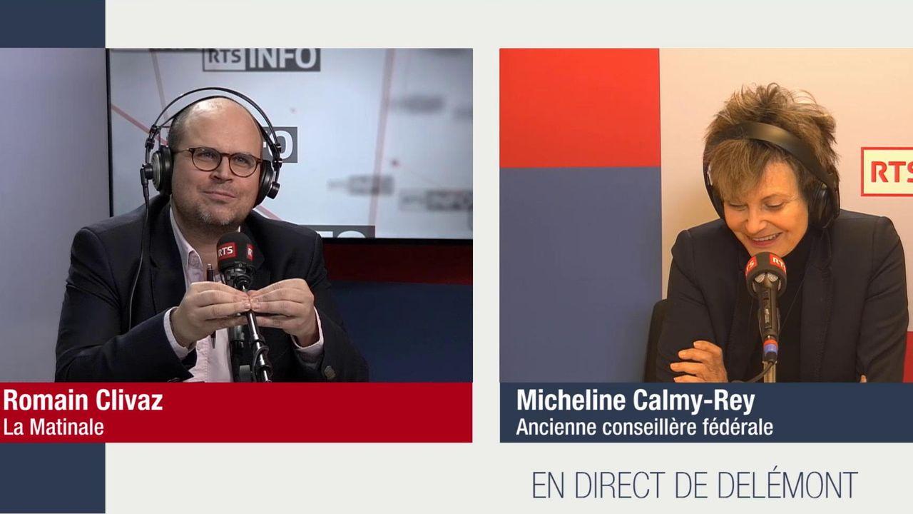 L'invitée de Romain Clivaz - Micheline Calmy-Rey. [RTS]