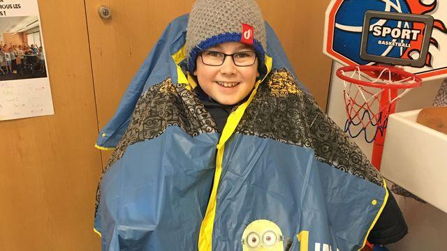 Romain Bossy, 9 ans, atteint de myopathie. [Francesca Argiroffo - RTS]