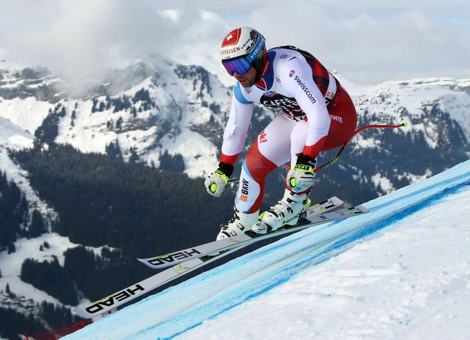 Vainqueur en 2012, Feuz est confiant pour la descente du Lauberhorn samedi. [Alessandro Trovati - Keystone]