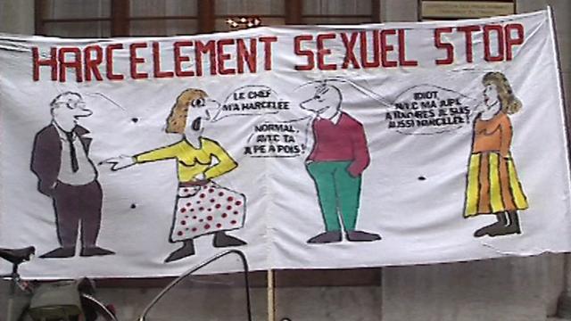 Stop au harcèlement sexuel. [RTS]