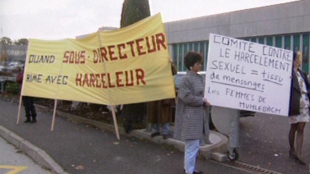 Une affaire de harcèlement sexuel dans une entreprise genevoise, 1991. [RTS]