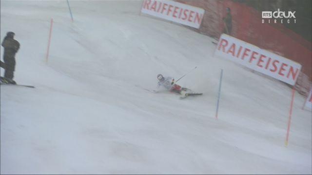 Wengen (SUI), combiné messieurs, 2e manche: chute de Gian Luca Barandun (SUI) [RTS]