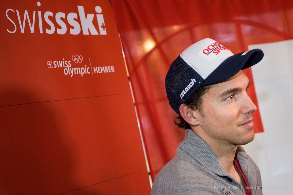 Janka a déclaré forfait pour les épreuves de ce week-end à Wengen. [Jean-Christophe Bott - Keystone]