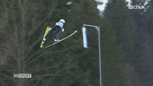 Saut à ski: Simon Ammann a pris la troisième place en Autriche [RTS]