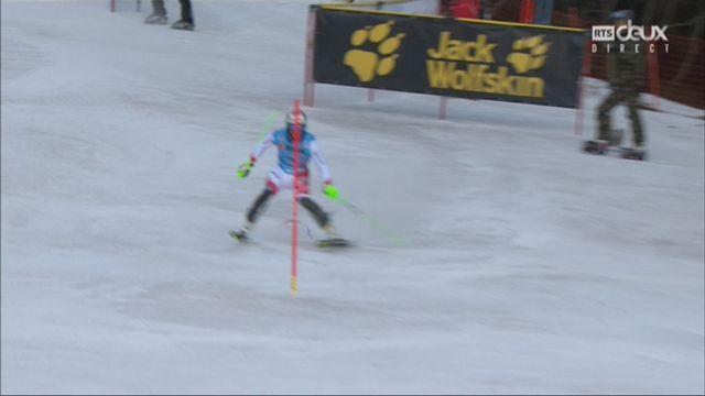 Wengen (SUI), 1re manche de slalom: Luca Aerni (SUI) enfourche après 4 secondes [RTS]