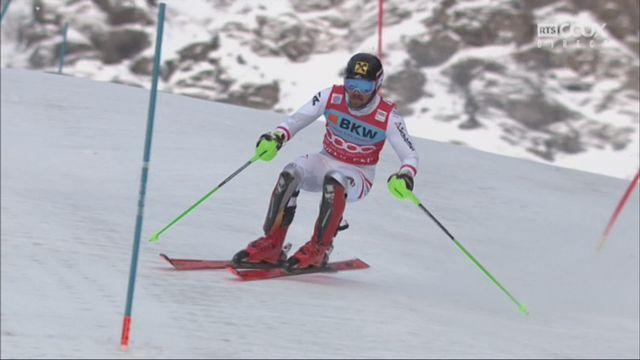 Wengen (SUI), 1re manche de slalom: Marcel Hirscher (AUT) prend la tête [RTS]