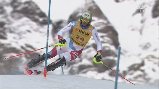 Wengen (SUI), 1re manche de slalom: meilleur Suisse, Ramon Zenhausern, se classe 6e [RTS]