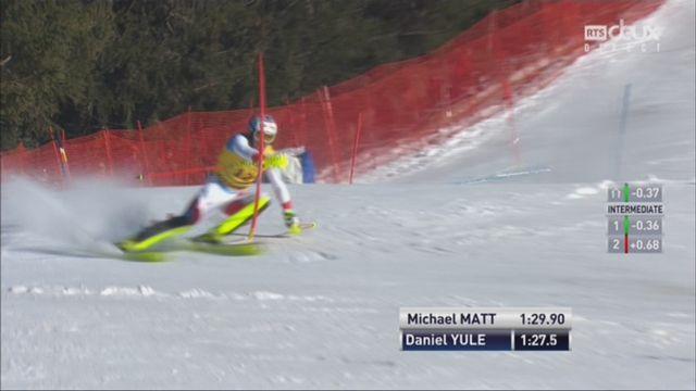 Wengen (SUI), 2e manche de slalom: Daniel Yule (SUI) [RTS]