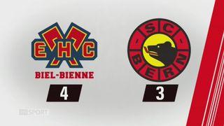 40e journée, Bienne - Berne (4-3): tous les buts de la rencontre [RTS]