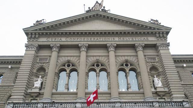 Une vue du Palais fédéral à Berne. [Peter Schneider - Keystone]