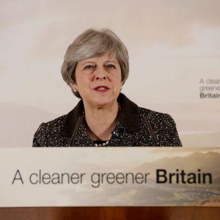Theresa May lors de la présentation de son plan environnemental le 11 janvier à Londres. [Matt Dunham - AP PHoto/Keystone]