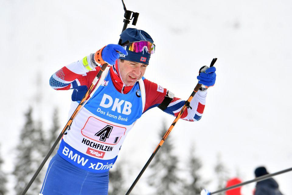 Bjoerndalen n'aura pas l'occasion de glaner une 14e médaille olympique à Pyeongchang. [Kerstin Joensson - Keystone]