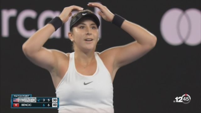 Tennis- Open d'Australie: Belinda Bencic réussit l'exploit contre Venus Williams [RTS]