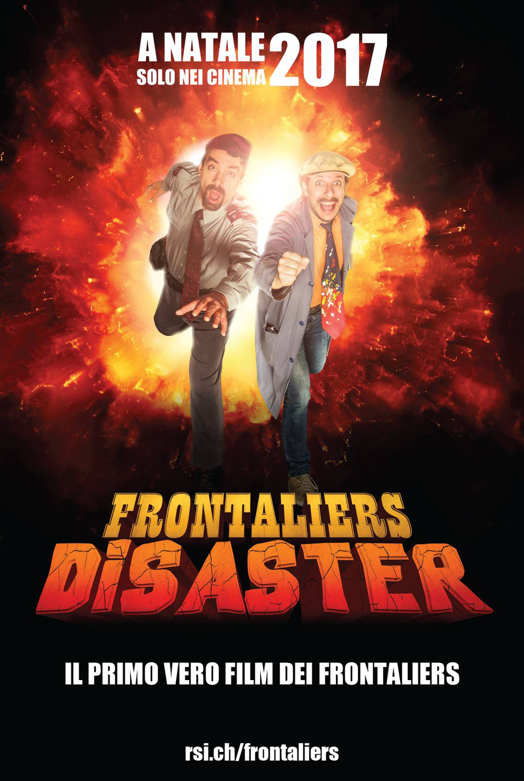 "L'affiche du film ""Frontaliers disaster""."