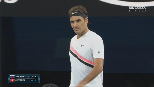Messieurs, 1er tour: Bedene (SLO) - Federer (SUI) (6-3, 6-4) [RTS]
