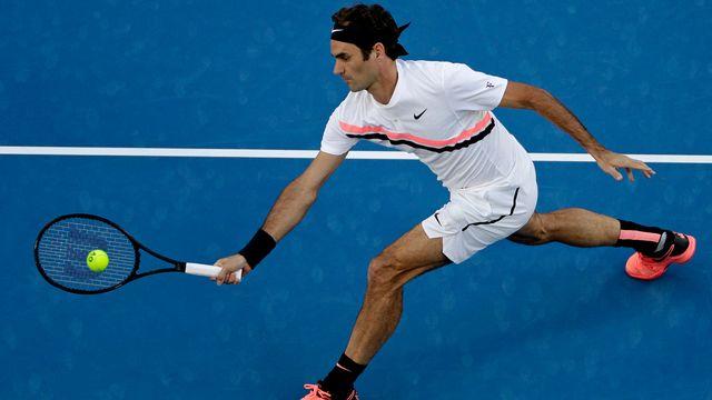 Federer n'a pas manqué son entrée en matière. [Dita Alangkara - Keystone]