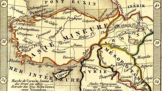 Carte générale de l'Asie-Mineure, de l'Arménie, de la Syrie, de la Mésopotamie et du Caucase par Adrien-Hubert Brué, géographe du Roi [wikimedia]