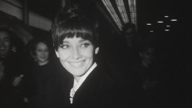 Audrey Hepburn à Lausanne en 1967. [RTS]