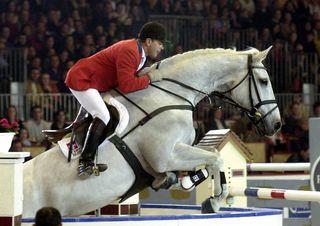 Willi Melliger avec son cheval Calvara. [AP Photo/Christophe Ena - Keystone]