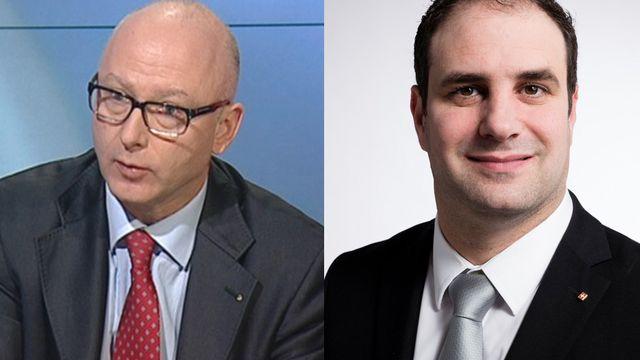 Blaise Matthey, directeur de la Fédération des entreprises romandes et Michaël Buffat, conseiller national UDC-VD.