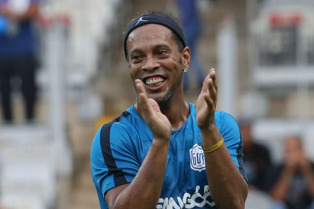 Ronaldinho, le 8 décembre dernier lors de match de charité à Belo Horizonte. [Paulo Fonseca - Keystone]