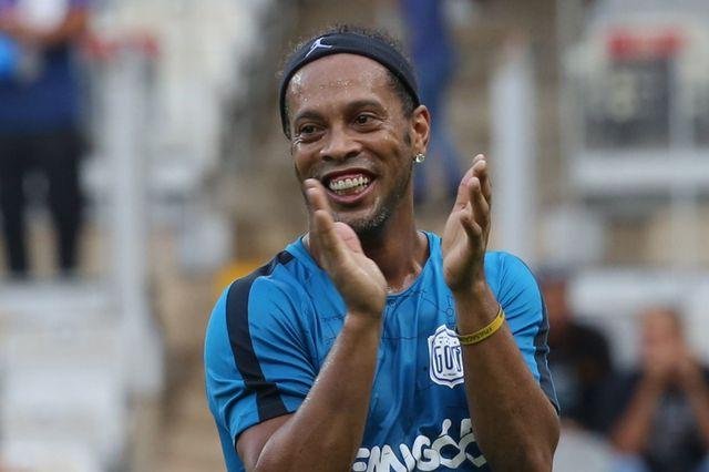 Ronaldinho, le 8 décembre dernier lors d'un match de charité à Belo Horizonte. [Paulo Fonseca - Keystone]
