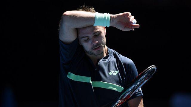 Stan Wawrinka lors de l'Australian Open à Melbourne le 16 janvier 2018. [Lukas Coch - EPA/Keystone]