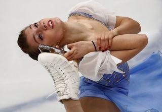 Alexia Paganini a réalisé un beau programme court à Moscou. [Pavel Golovkin - Keystone]