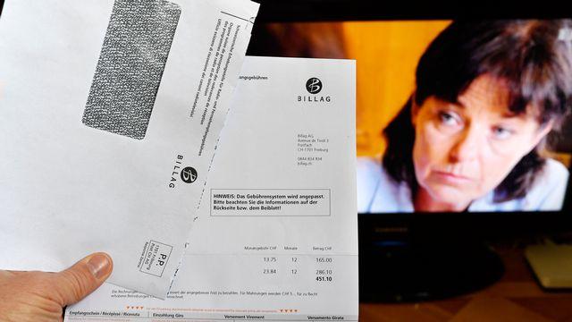 L'initiative No Billag veut interdire le financement de la radio et de la télévision par une redevance. [Walter Bieri - Keystone]