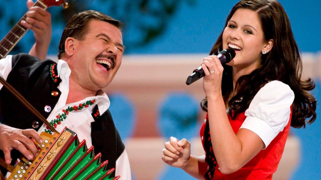 Le groupe Oesch's die Dritten, star du yodel suisse. [Keystone]