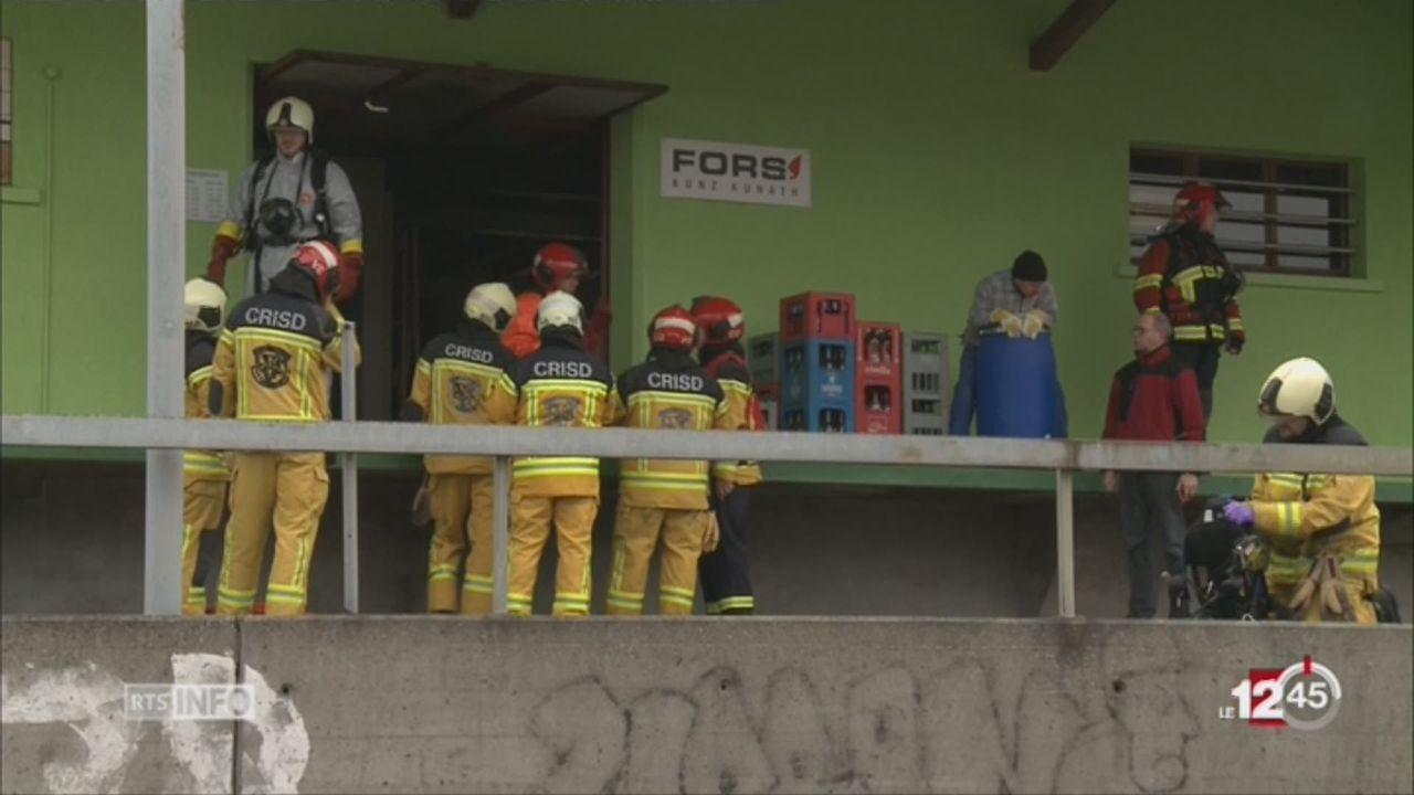 JU: une alerte aux hydrocarbure a réveillé le village de Courtételle [RTS]