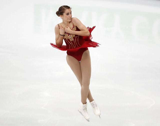 Alexia Paganini a réalisé une prestation d'ensemble encourageante à Mascou. [Pavel Golovkin - Keystone]