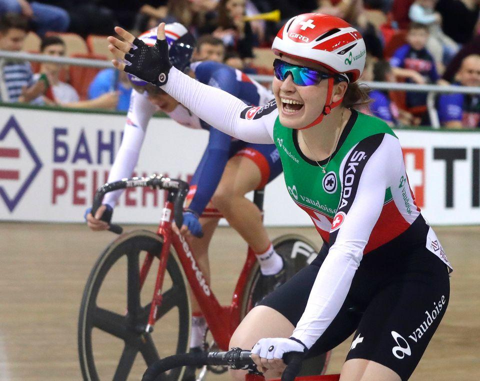 Aline Seitz a remporté avec la manière son premier succès en Coupe du monde. [Sergei Grits - Keystone]
