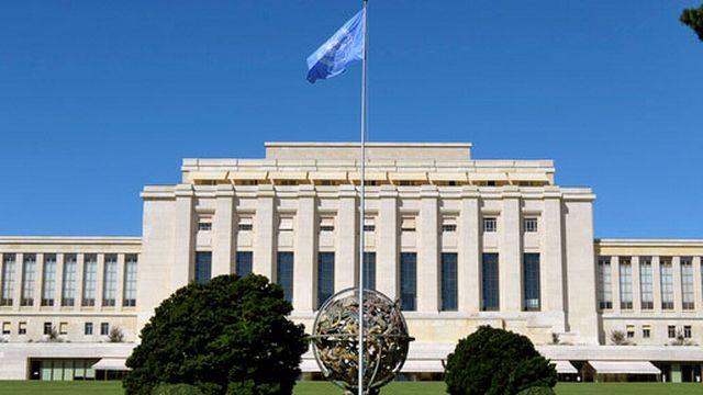 Le Palais des Nations, situé dans le parc de l'Ariana [Martial Trezzini - Keystone]
