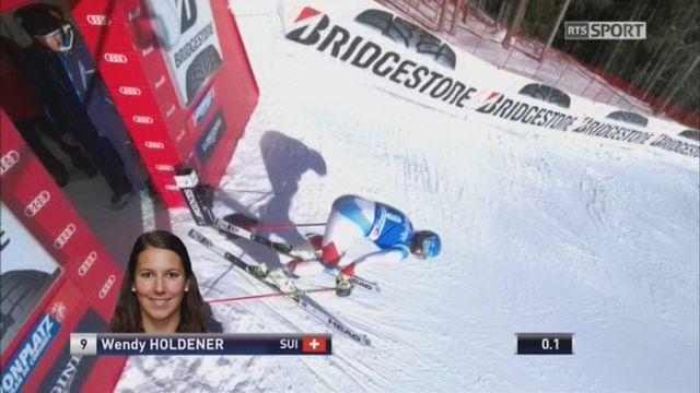 Kronplatz (ITA), Géant dames 1re manche: Wendy Holdener (SUI) [RTS]