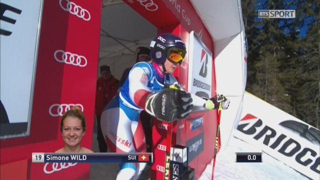 Kronplatz (ITA), Géant dames 1re manche: Simone Wild (SUI) [RTS]