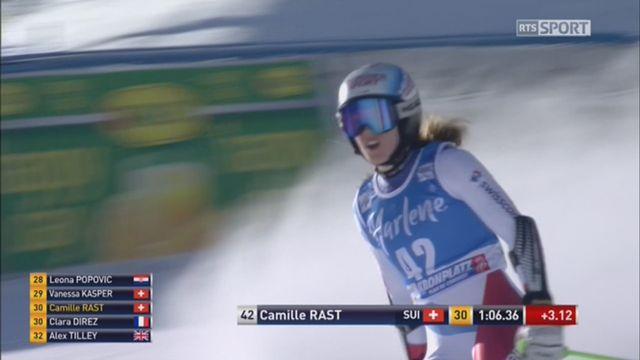 Kronplatz (ITA), Géant dames 1re manche: Camille Rast (SUI) [RTS]