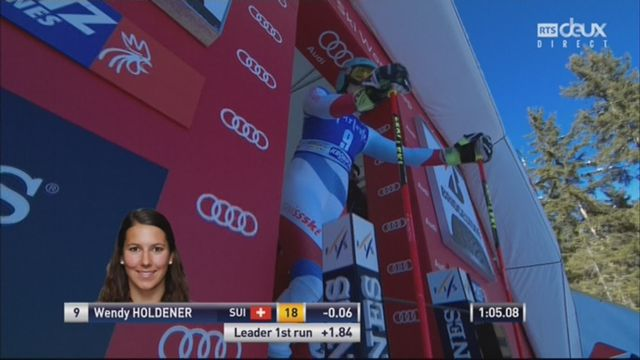Kronplatz (ITA), Géant dames 2e manche: Wendy Holdener (SUI) [RTS]